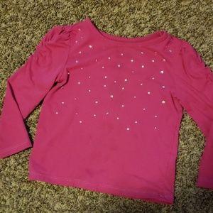 3/$12 pink crystal shirt